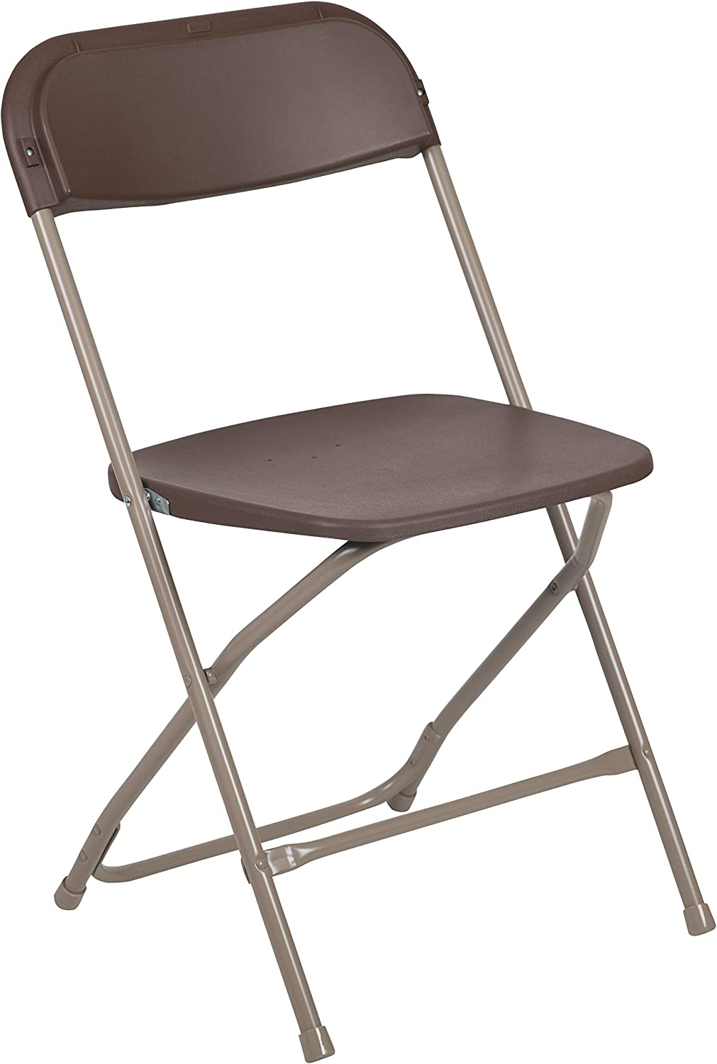 Flash Furniture Hercules Series 800-Pound Premium Plastic Folding Chair, Brown
