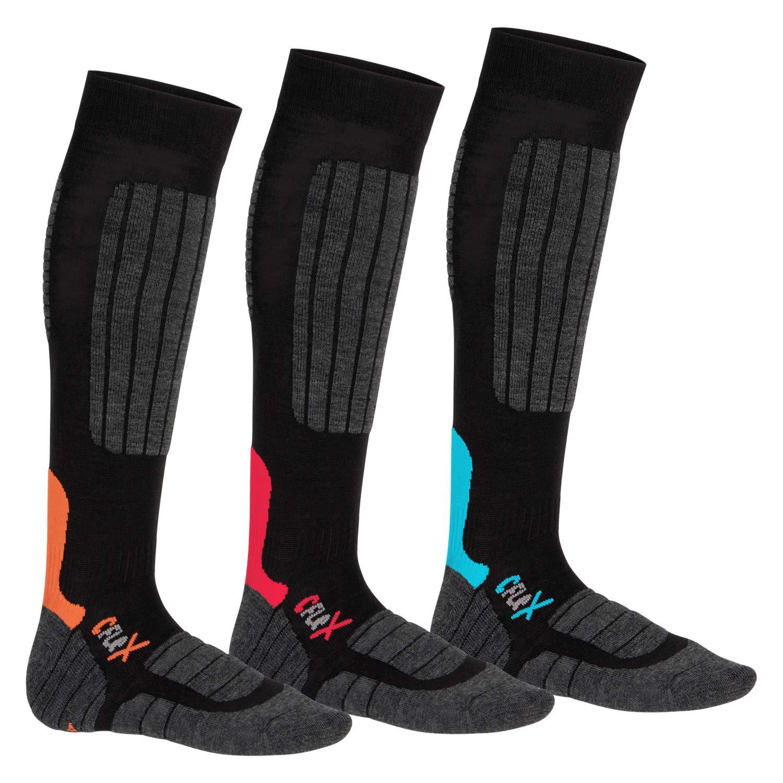 CFLEX HIGH PERFORMANCE Unisex Ski & Snowboard Socks - pack of 3 ...