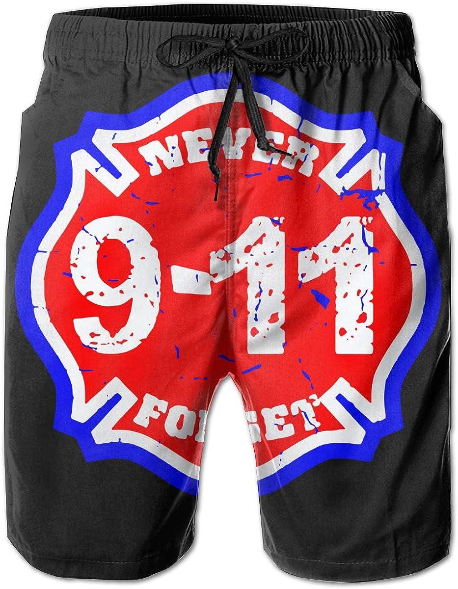 911 Cross Mens Beach Board Shorts Slim-Fit Beachwear