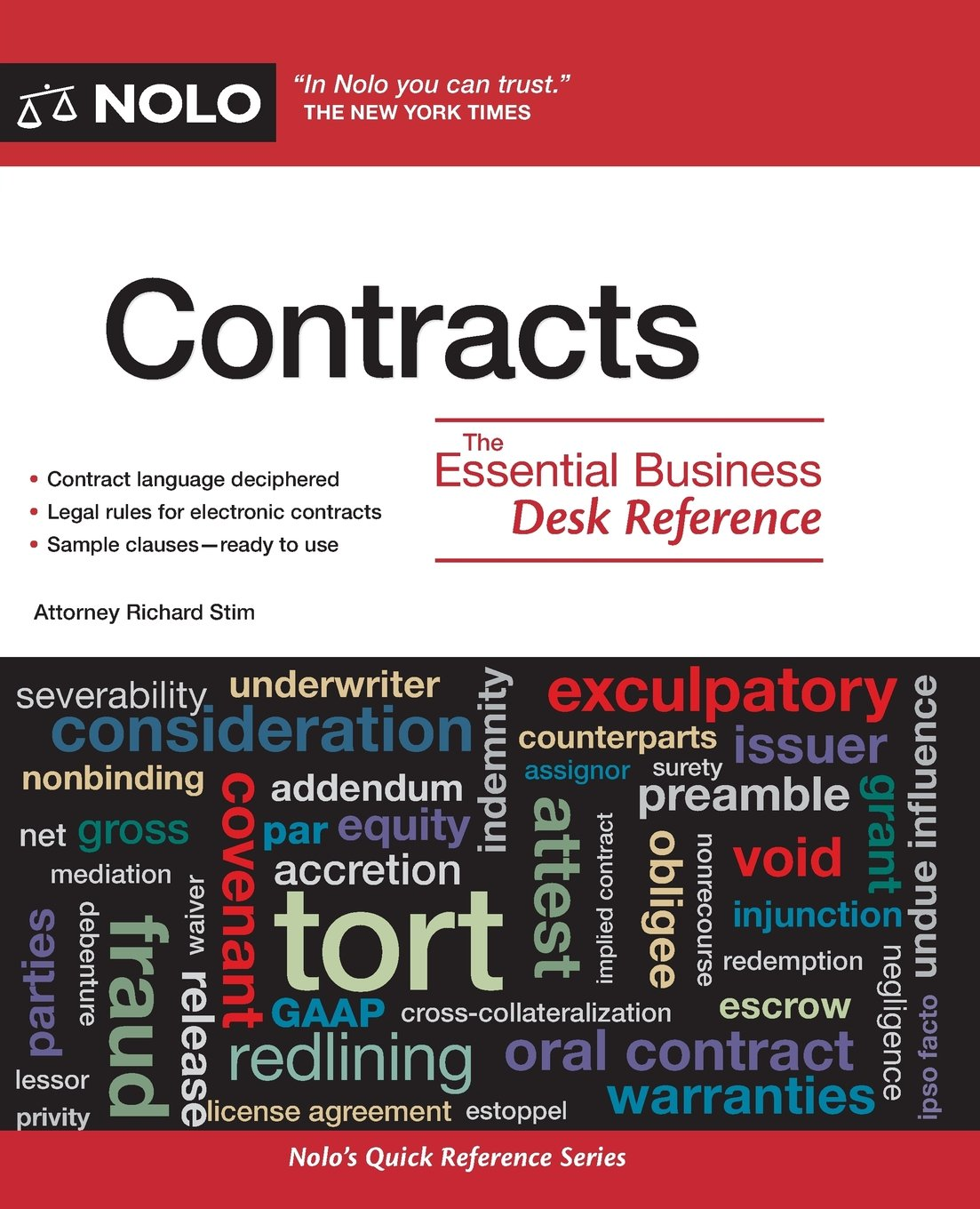 Contracts: The Essential Business Desk Reference: Richard Stim:  9781413312812: Amazon.com: Books