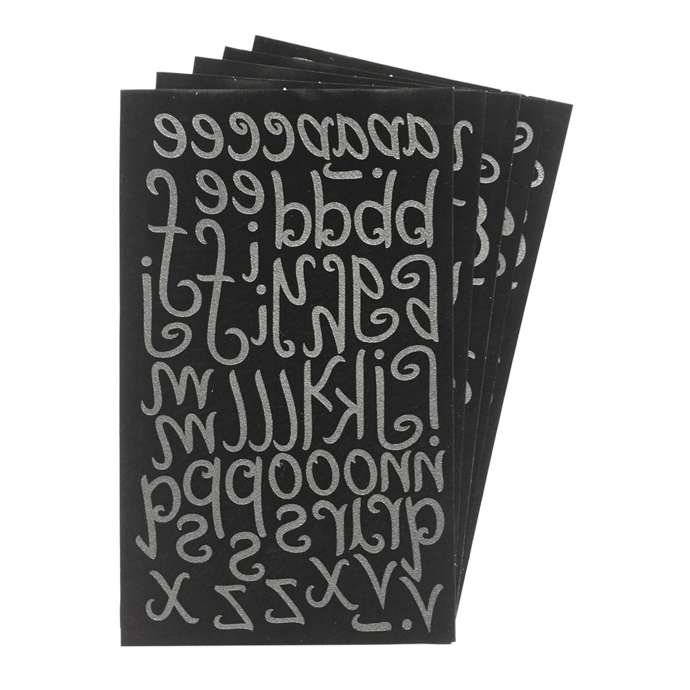 Magfok Iron on Transfer White Letter 1.5 Inch Uppercase /& Lowercase 5 Sheet Black or White Options