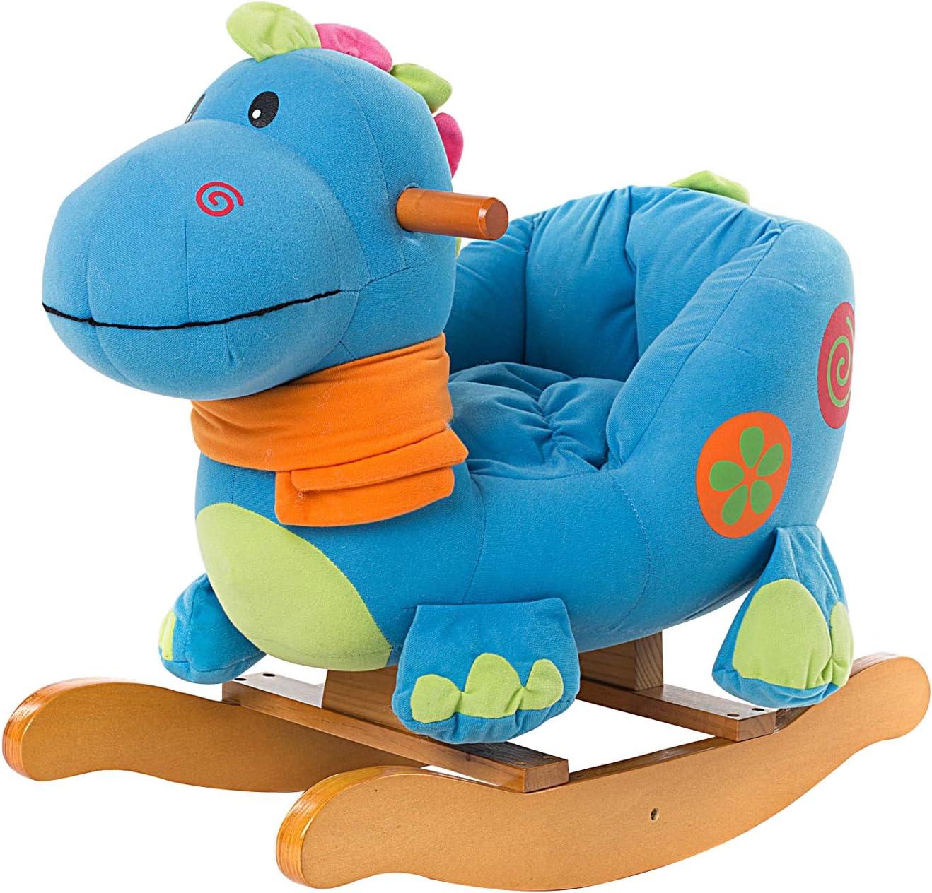 Labebe Caballito Balancin Bebé, Caballito Madera De Dinosaurio Azul para Niño De 1-3 Años, Turnraise Balancin/Caballo Balancin Bebé/Caballito Balancin Madera/Columpio Balancin Bebé…