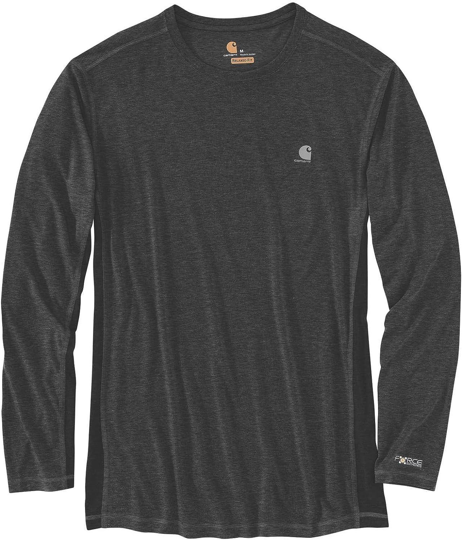 Carhartt Men's Crimson Force Extremes Long Sleeve T-Shirt Black/Heather