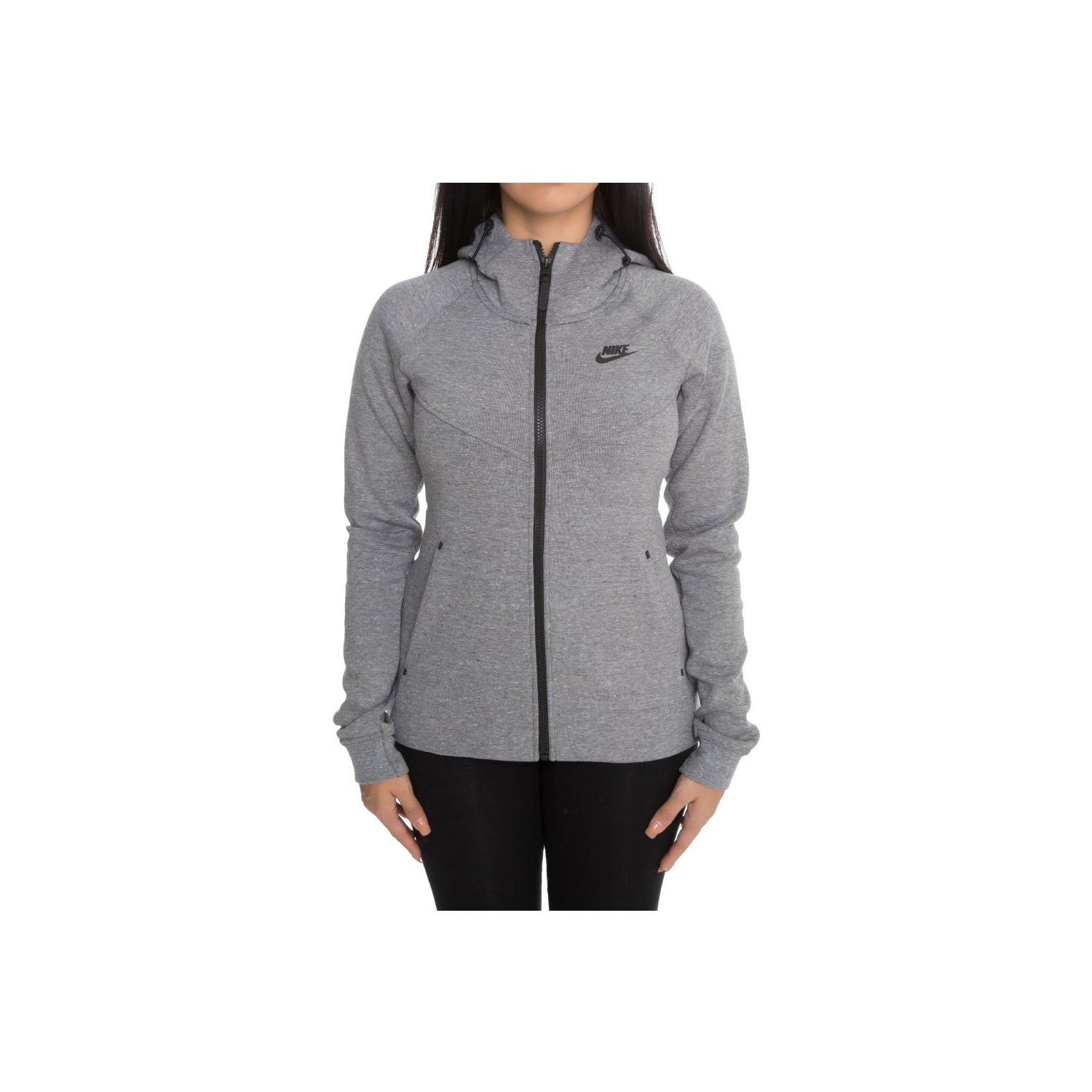 Nike Women's Tech Fleece Destroyer Jacket - Carbon Grey/Heather -L by NIKE