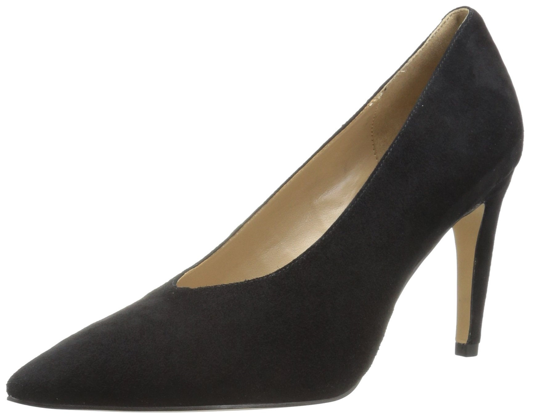 The Fix Women's Vail Choked-up Banana Heel Dress Pump, Black, 7 B US