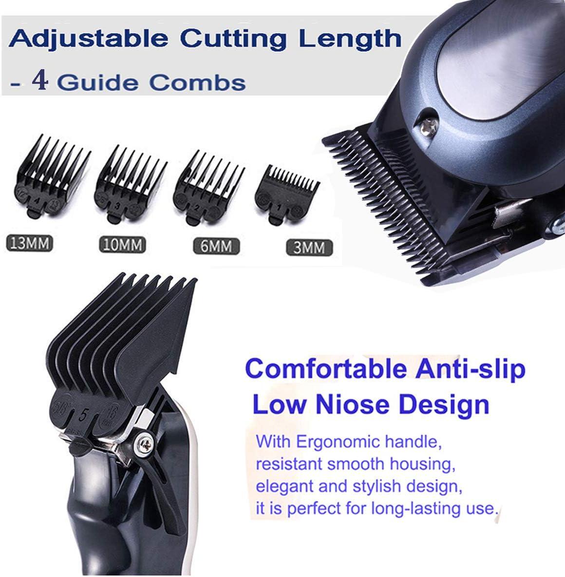 Maquina cortar pelo profesional precisión inalámbrica fade Clipper cargado con características cortadoras de pelo ...