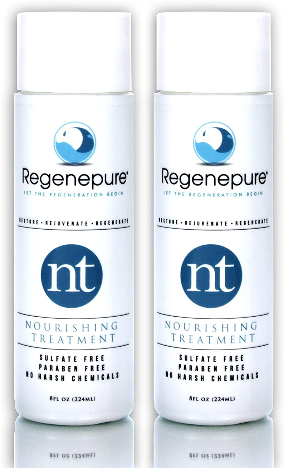 REGENEPURE - NT Shampoo, Nourishing Treatment For Thickening and Strengthening Hair, 8 Ounces (2 Pack)