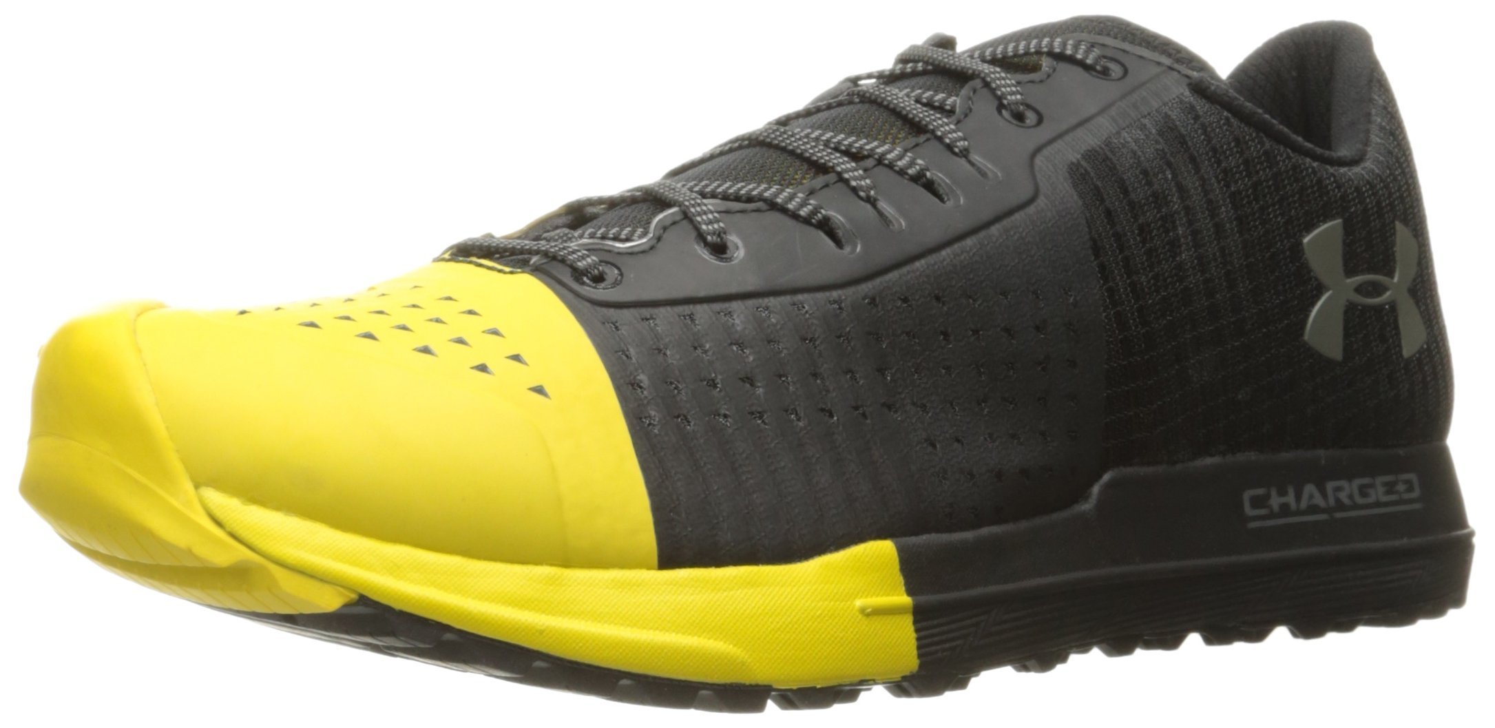 Under Armour Men's Horizon Ktv Running Shoe, Black (001)/Zeppelin Yellow, 8