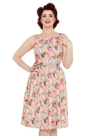 VOODOO VIXEN - Pollyanna 50 s Spring Flower Belted Dress  Amazon.co ... adec292d4