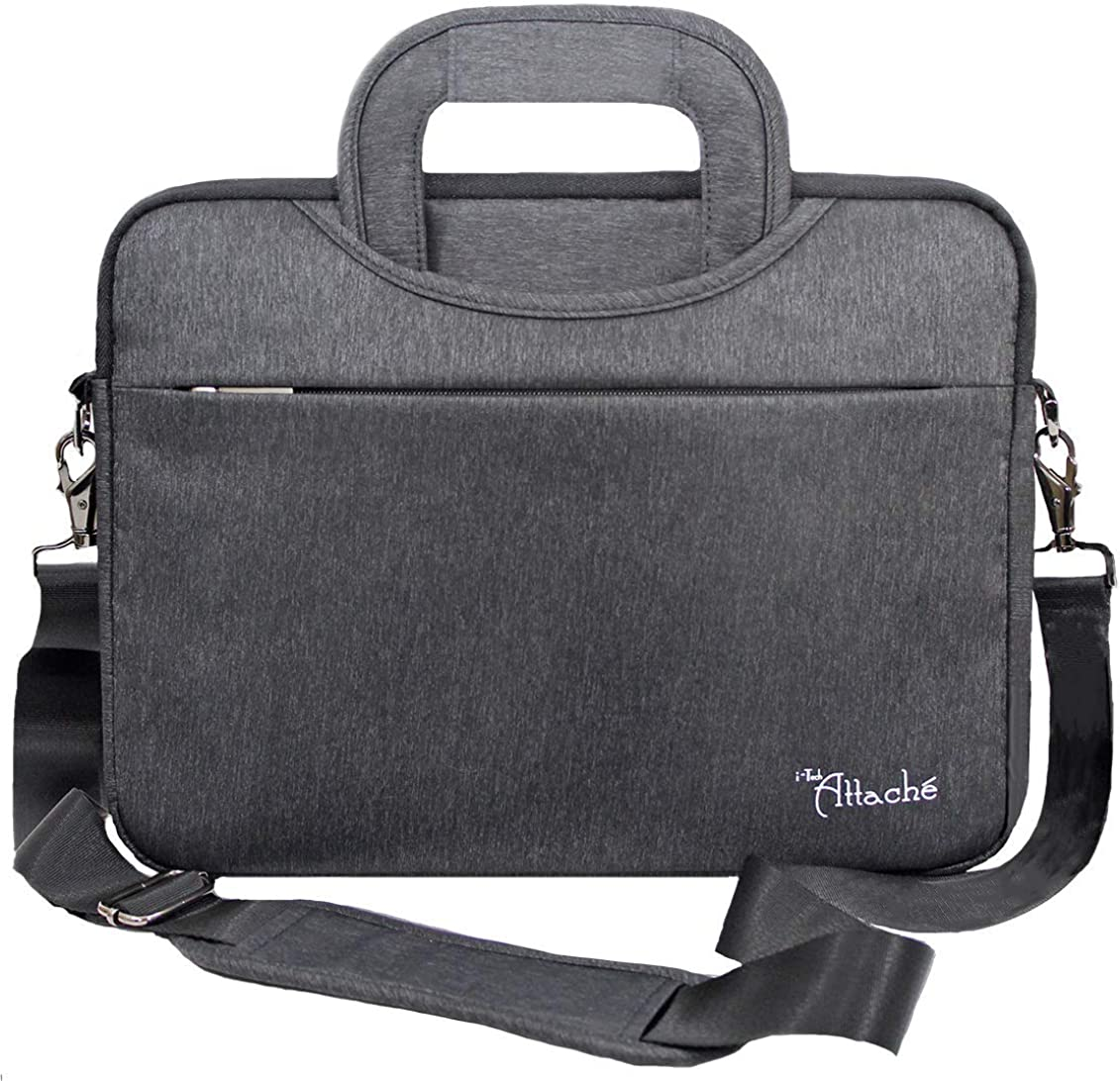 i-Tech Attaché 13 inch Laptop Shoulder Bag Shockproof Waterproof Messenger Bag for iPad and 13.3 inch Laptops