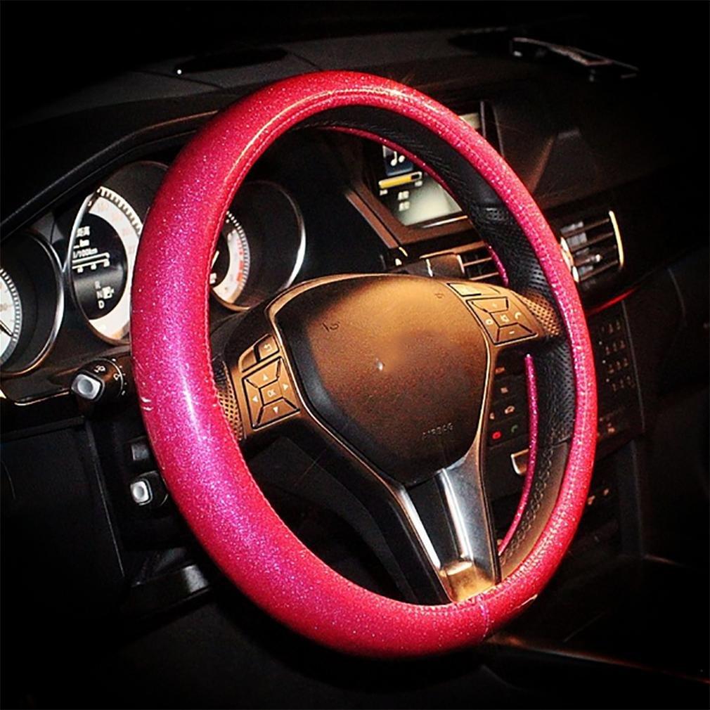 LPY-Copertura del volante dell'auto per la copertura volante sveglia estiva delle donne , Golden Steering wheel Cover
