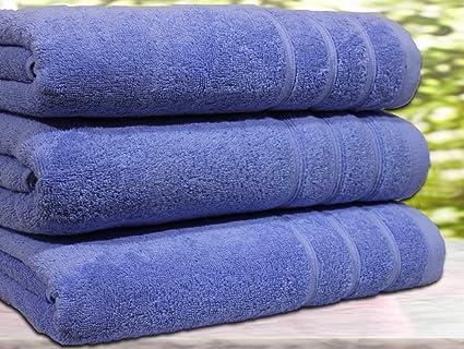 Juego de 3 toallas de baño, algodón egipcio de 550 g/m², tamaño