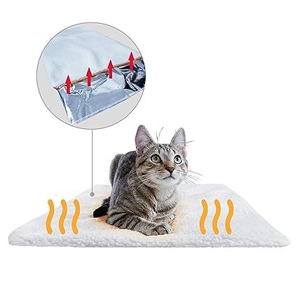 PiuPet® Selbstheizende Decke für Katzen & Hunde | Größe: 60x45cm | Innovative & Umweltfreundliche Wärmematte | Katzendecke