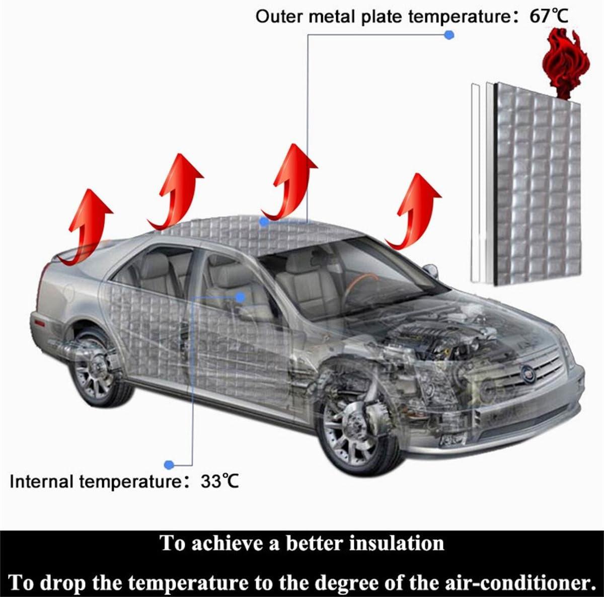 SHINEHOME Heat Shield Sound Deadener Deadening Heat Insulation Mat Noise Insulation and Dampening Mat Heat Proof Mat 72 inches x 40 inches 6mm 236mil