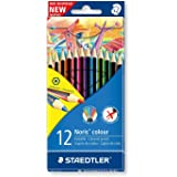 185C12 Noris Club Colouring Full Length Pencil Assorted Colours. Pack of 12