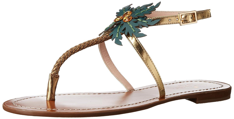 2f8436f28d07be Kate spade new york women solana flat sandal gold us flats jpg 1500x765 Kate  spade sandals
