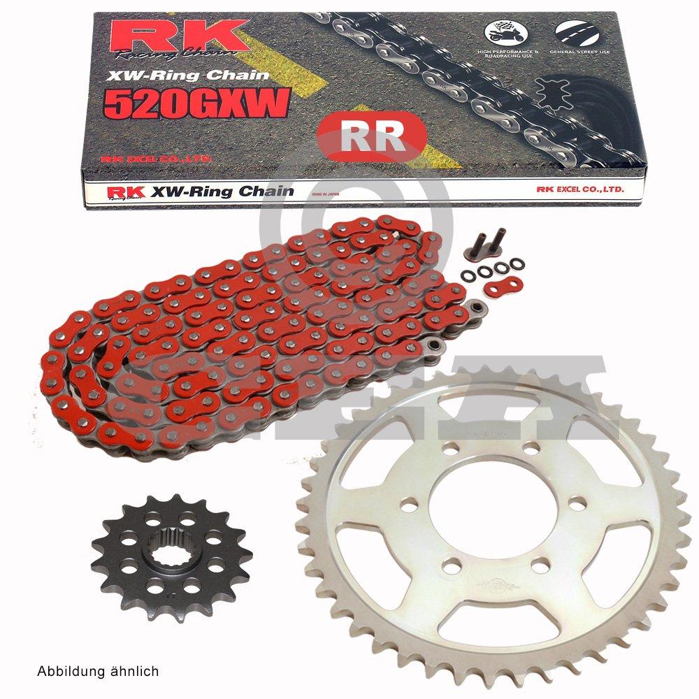 Aluminio Cadena de Husqvarna SM 630 IE 2010, cadena RK RR 520 GXW 110, Rojo, abierto, 15 cadena RK RR 520GXW 110 RK JAPAN Co. Ltd.