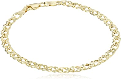 14k yellow gold Diamond chain bracelet