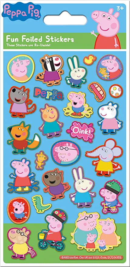 Paper Projects 01.70.06.152 Peppa Pig Blue Sparkly Foil Stickers