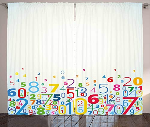 Ambesonne Mathematics Classroom Curtains