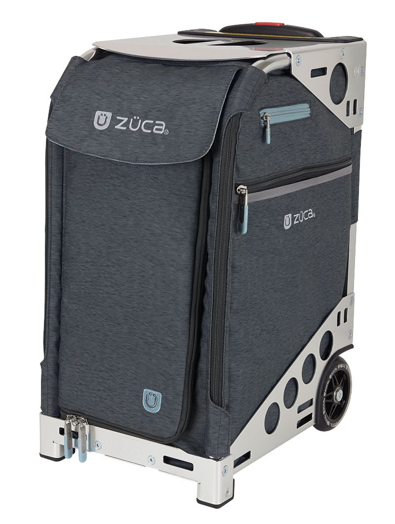 Zuca Pro Travel Heather Bag - Slate Insert and Silver Frame