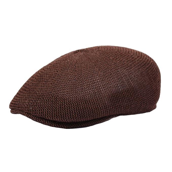 253809a961f46 Hombres Y Mujeres De Verano De Malla De Sombrero De Paja Boina Transpirable  Gorra Sombrero Comodín hacia Adelante
