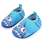 JIASUQI Classic Outdoor and Indoor Sports Water Shoes Beach Sandals for Baby Boys and Girls,Blue Shark 6-12 Months