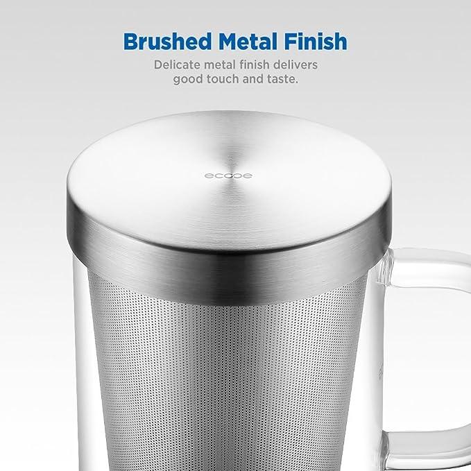 Ecooe taza de cristal de té de vidrio taza de té de té hecho de borosilicato, 500ml (Capacidad completa): Amazon.es: Hogar