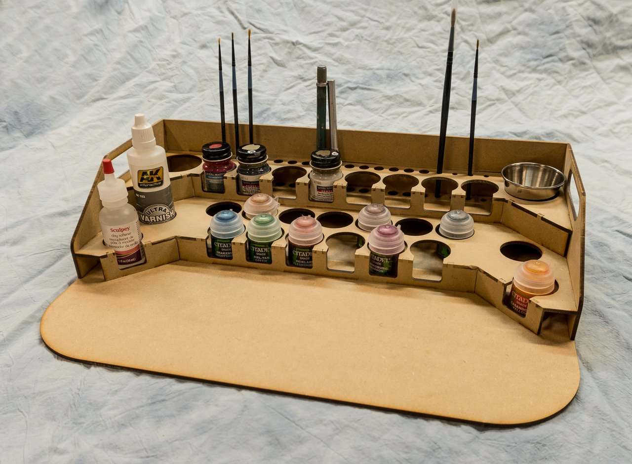 GameCraft Miniatures Painting Station - 34mm V2, for GW / Citadel Bottles