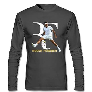 44121d37 Amazon.com: CONOC Men's Roger Federer Logo Perfect RF Tennis Player  Wimbledon Tennis (2) Long Sleeve T Shirt dark grey L: Clothing