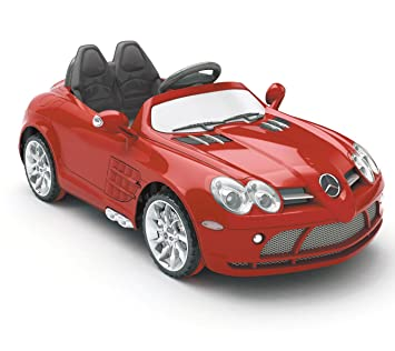 luxury premium grade mercedes licensed slr kids 12v electric ride on car toy with remote