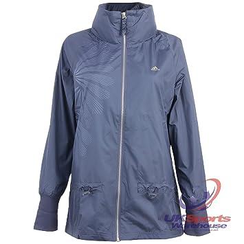 Adidas Damen Studio Pure Prism Woven Softshell Lite Running Coat Jacke RRP  £60, blau aea1409932