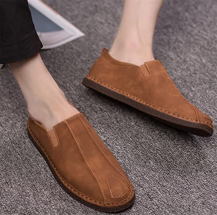 Driving Shoes Men Classic Leather Man Loafer Flats Oxford Shoe Slip on 2 Colors Size 6.5-9