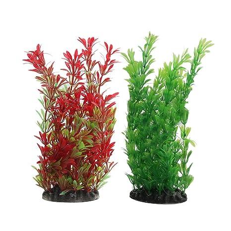 Viviving - Plantas artificiales de acuario, 2 unidades, 22,8 cm de alto