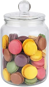 Glass Storage Jar with Lid (1/2 Gallon) Airtight Glass Storage Container for Food, Flour, Pasta, Coffee, Candy, Dog Treats, Snacks and More Glass Organization Canisters for Home & Kitchen 68 Ounces
