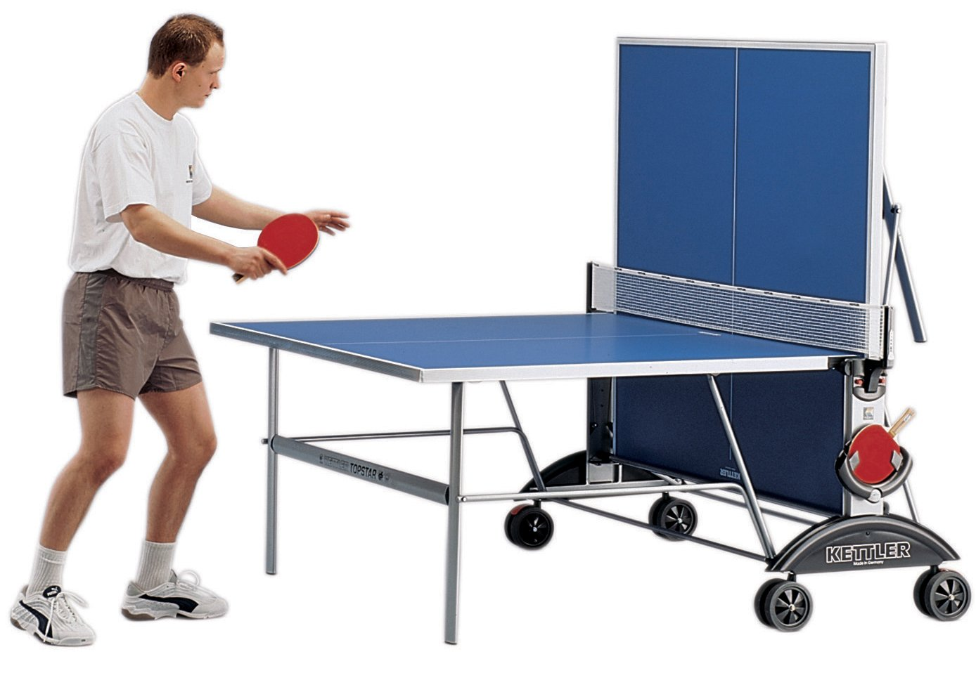 Ping pong table top - Amazon Com Kettler Top Star Xl Indoor Outdoor Table Tennis Table Blue Top Outdoor Ping Pong Table Sports Outdoors