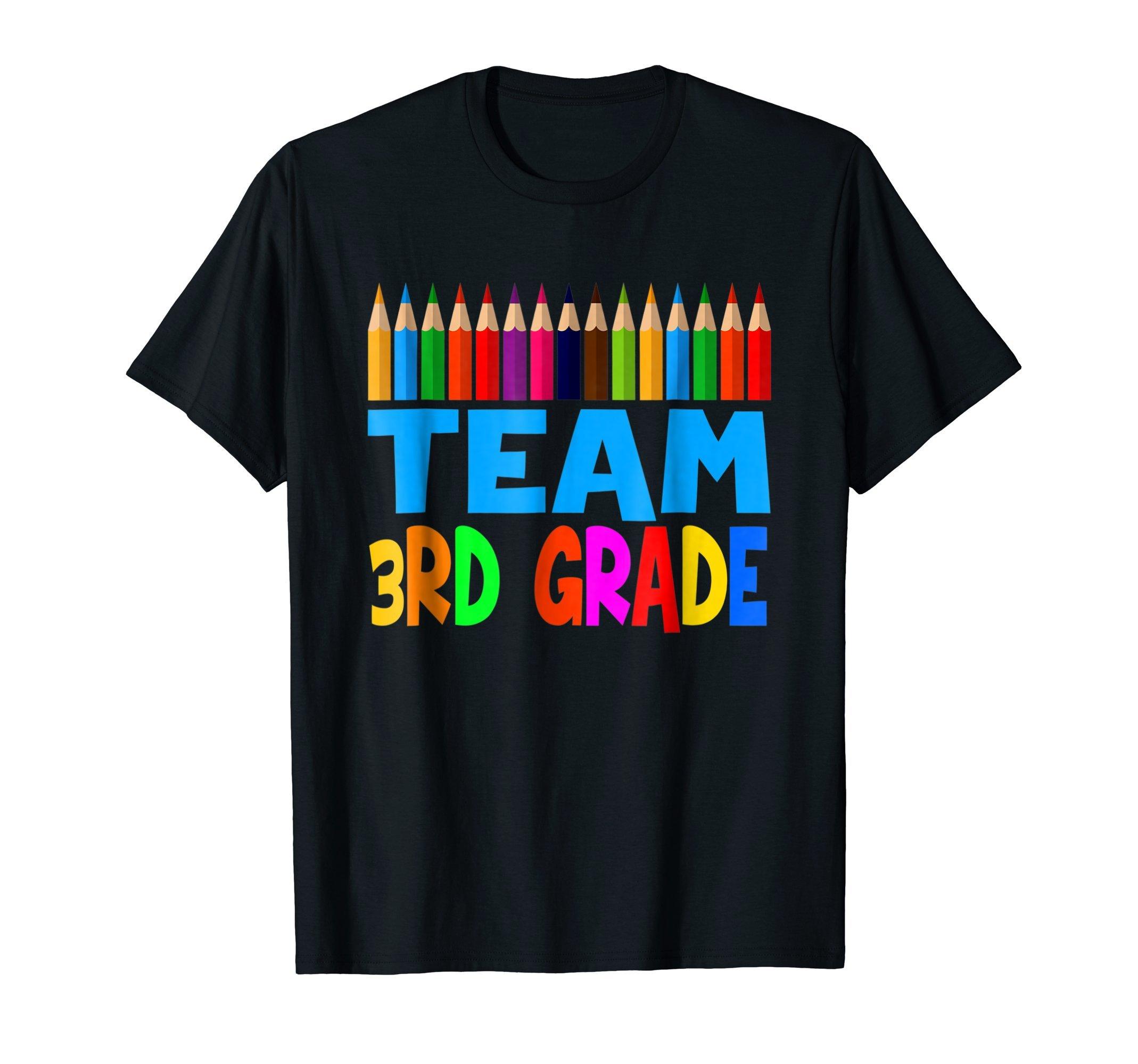 3rd Grade Team Pencils Tshirts 3rd Grade For Kids / Teachers
