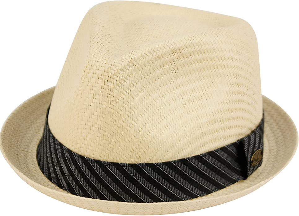 Epoch Hats Mens Summer Fedora Cuban Style Upturn Short Brim Hat S M