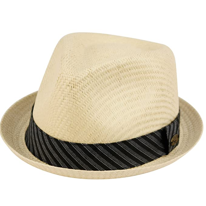 0d6f6ae84fae6 Epoch hats Mens Summer Fedora Cuban Style Upturn Short Brim Hat (S M