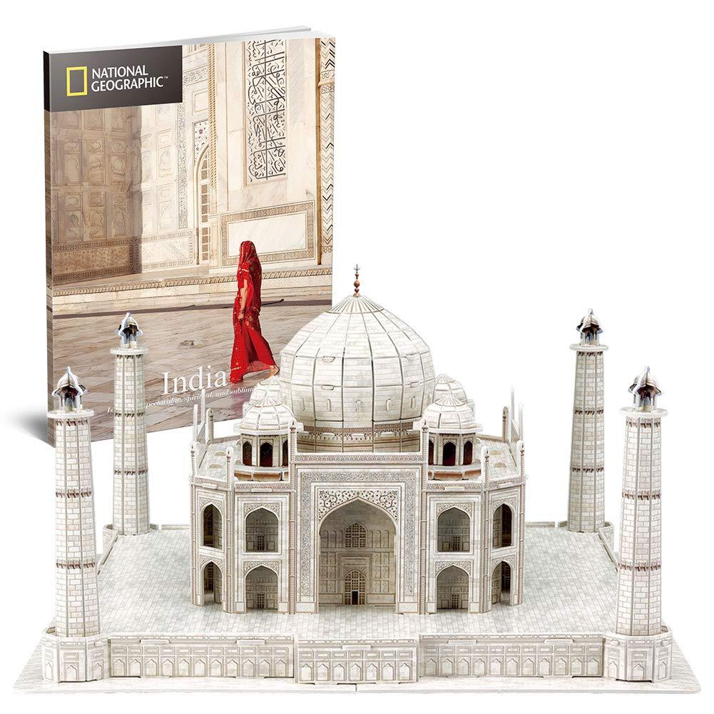 CubicFun 3D Puzzle National Geographic Modellbausatz Spielzeug für Erwachsene und Kinder, 2-in-1-Paket, Indien Taj Mahal und Mini Double Decker Bus CubicFun Toys Industrial Co. Ltd. DS0981h
