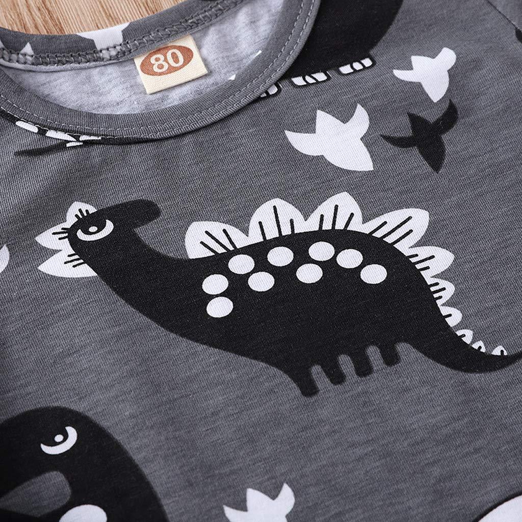Hattfart Baby Jumpsuit Infant Bodysuit Toddler Long Sleeve Cotton Romper Kids Boys Girls Dinosaur Cartoon Print Outfits