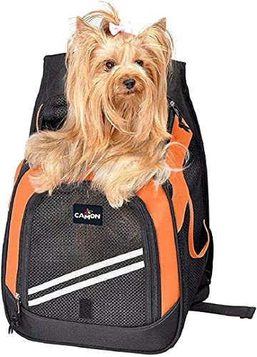 Pet Pocket Backpack Front Pet Carrier Adjustable Universal Fit, Size Medium,12.6 W x 9.5 Deep x 18 H, 20 lb Capacity