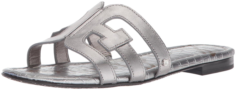 Sam Edelman Women's Bay Slide Sandal B07744M4BF 8.5 B(M) US|Pewter Metallic Leather