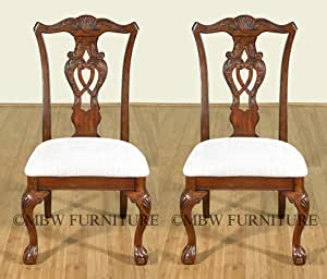 Amazon.com : Pair of 2 Mahogany Chippendale Claw & Ball ...