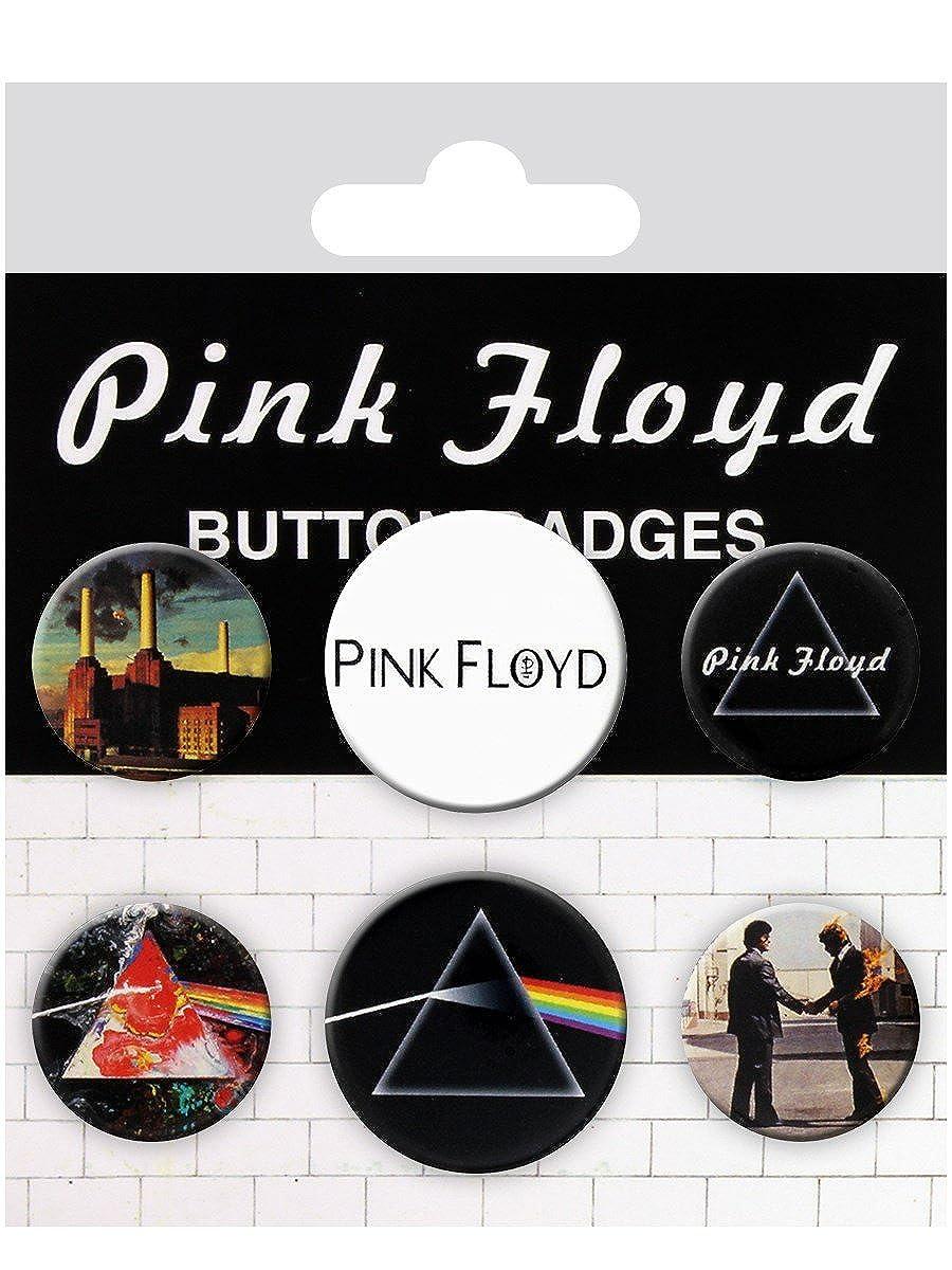 Set de badges Pink Floyd : Albums & logos Sous Licence Officielle
