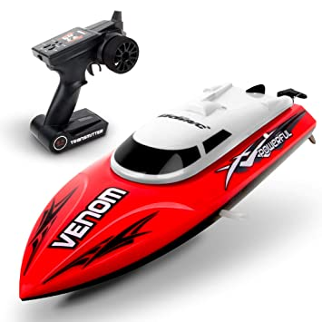 Udi001 Venom Remote Control Boat For Pools Lakes And Outdoor Adventure 2 4ghz High Speed Electric Rc Includes Bonus Battery Doubles Racing