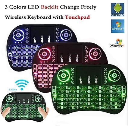 Black Wireless Mini Keyboard /& Mouse Easy Remote Control for Samsung LG 43UJ630V 43 Smart TV