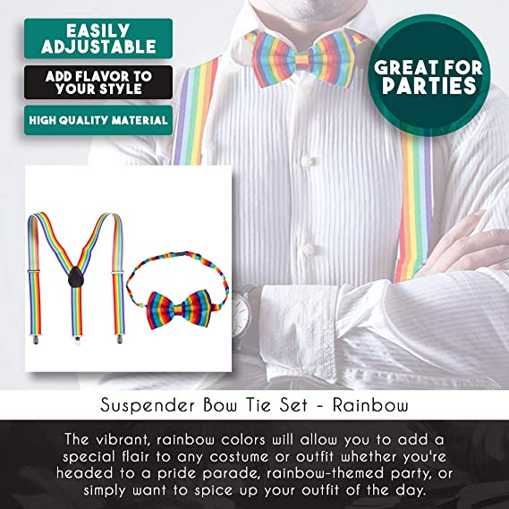 Elegant Lgbt Pride Hearts Adjustable Men Boy Tuxedo Assorted Ties