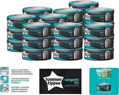 Tommee Tippee Sangenic Tec - Recarga para papelera de pañales, lote de 27 unidades: Amazon.es: Bebé