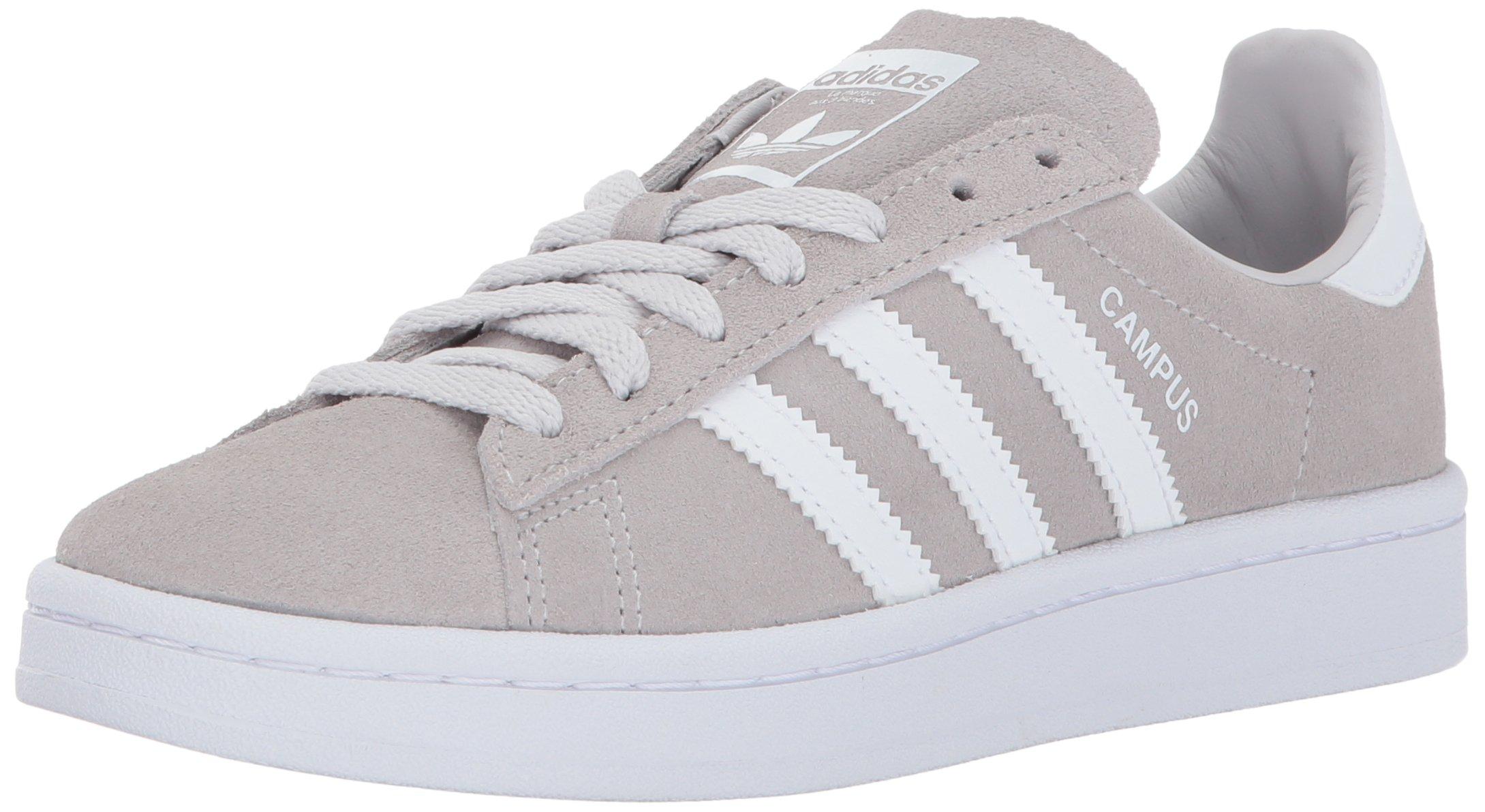 adidas Originals Boys' Campus J, Grey One/White/White, 3.5 Medium US Big Kid